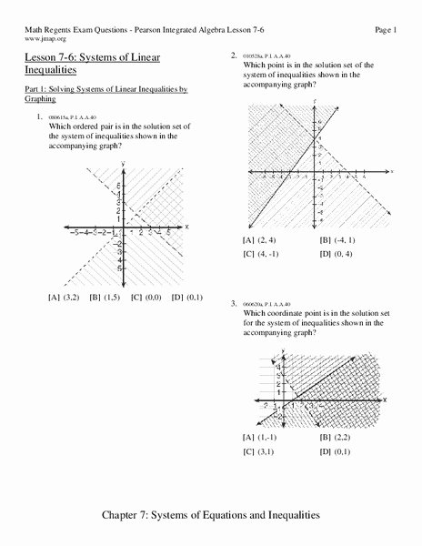 Systems Of Linear Inequalities Worksheet Luxury Systems Of Linear Inequalities Worksheet for 9th 11th