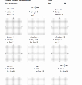 Systems Of Linear Inequalities Worksheet Unique Homework assignments