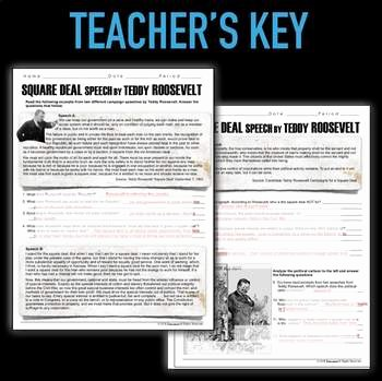 Teddy Roosevelt Square Deal Worksheet Awesome Square Deal Speech by Teddy Roosevelt Primary source