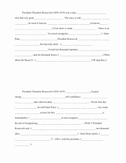 Teddy Roosevelt Square Deal Worksheet Best Of Interview with theodore Roosevelt