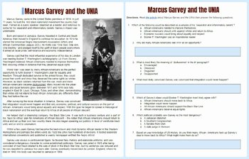 Teddy Roosevelt Square Deal Worksheet Lovely Marcus Garvey Biography and Reading Worksheet by Students