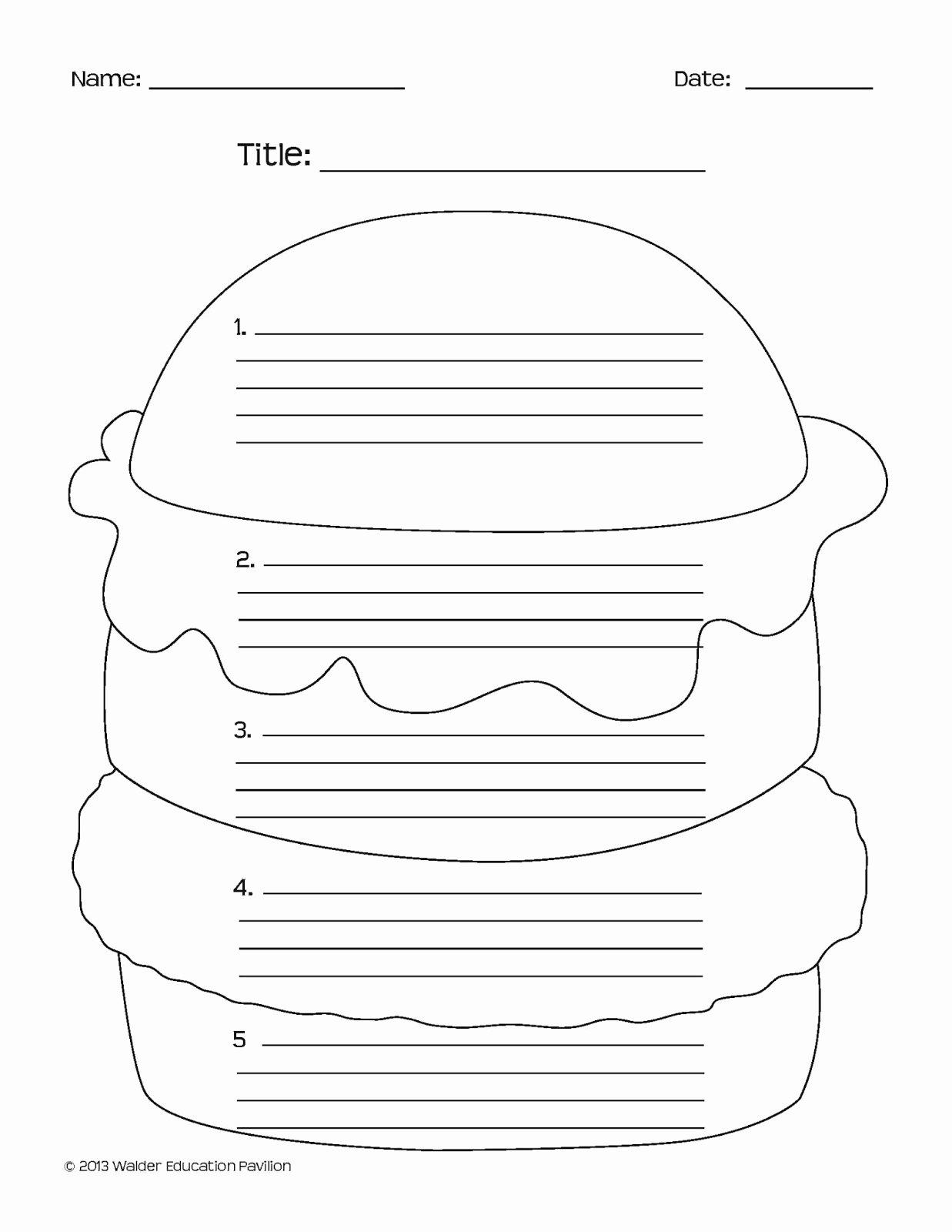Teddy Roosevelt Square Deal Worksheet Luxury Essay Writing Hamburger Graphic organizer Graphic