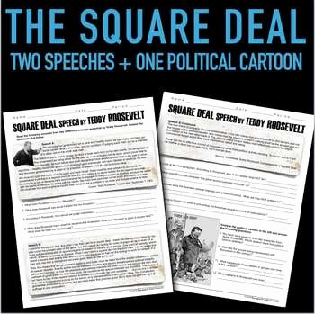 Teddy Roosevelt Square Deal Worksheet Luxury Square Deal Speech by Teddy Roosevelt Primary source