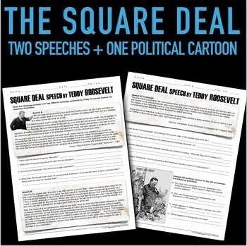 Teddy Roosevelt Square Deal Worksheet Luxury Square Deal Speech by Teddy Roosevelt Primary source