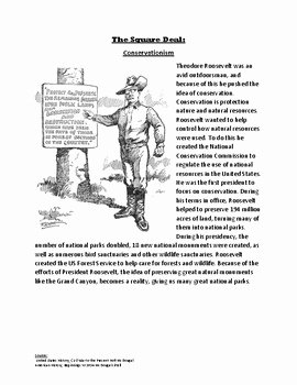 Teddy Roosevelt Square Deal Worksheet New Square Deal Readings by Holly Martin