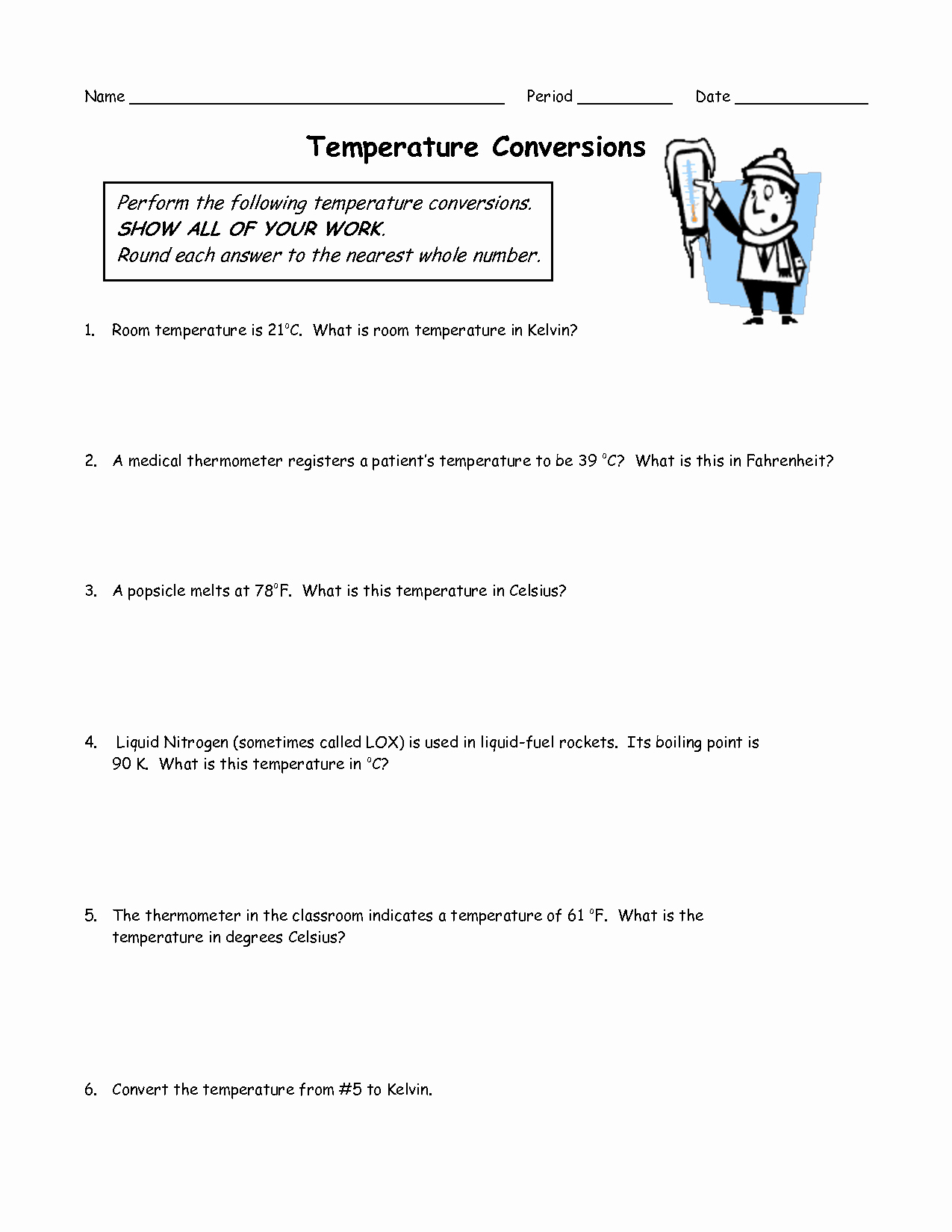 Temperature Conversion Worksheet Answer Key Awesome 13 Best Of Kelvin Temperature Conversion Worksheet