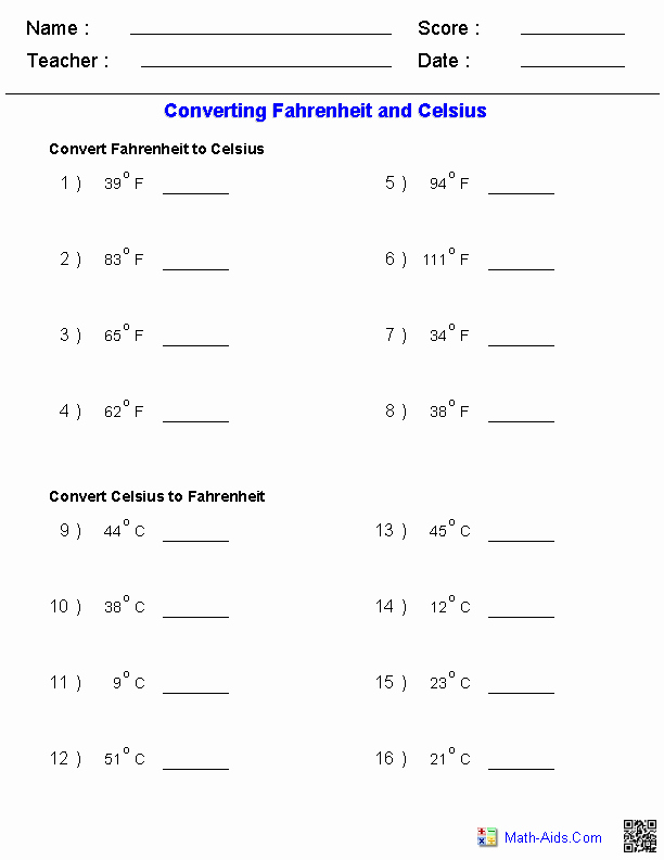 Temperature Conversion Worksheet Answer Key Beautiful Temperature Conversion Worksheet Answers Understand the