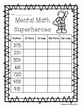 Ten More Ten Less Worksheet Best Of 17 Best Of Superhero Math Worksheets Superhero