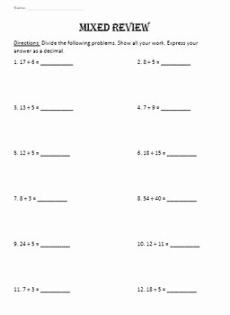 Terminating and Repeating Decimals Worksheet Awesome Terminating & Repeating Decimals and Word Problems to