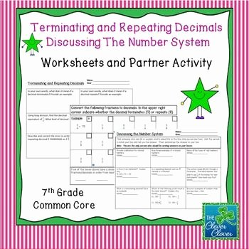 Terminating and Repeating Decimals Worksheet Inspirational Terminating and Repeating Decimals Worksheet Pdf