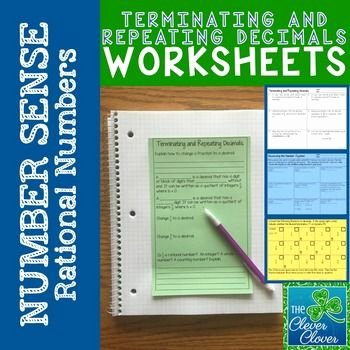 Terminating and Repeating Decimals Worksheet Unique 17 Best Ideas About Decimals Worksheets On Pinterest