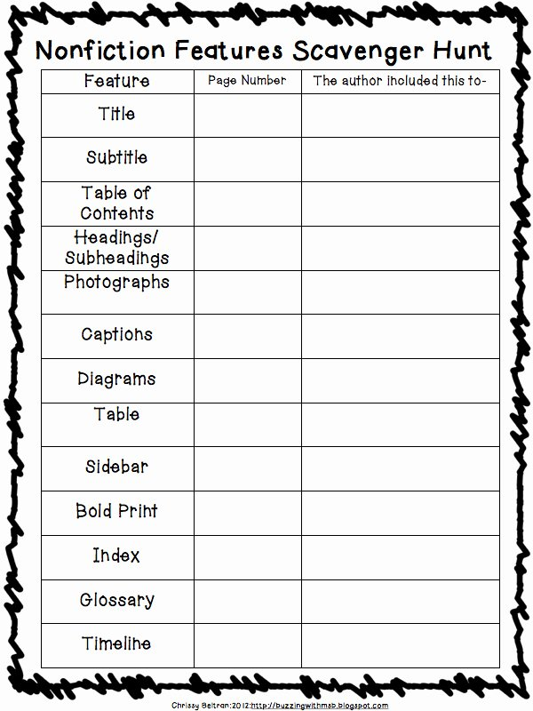 Text Features Worksheet 2nd Grade Awesome 3 6 Free Resources Nonfiction Features Freebies