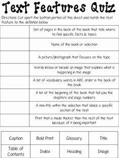 Text Features Worksheet 2nd Grade Best Of Nonfiction Text Features Worksheet 2nd Grade the Best