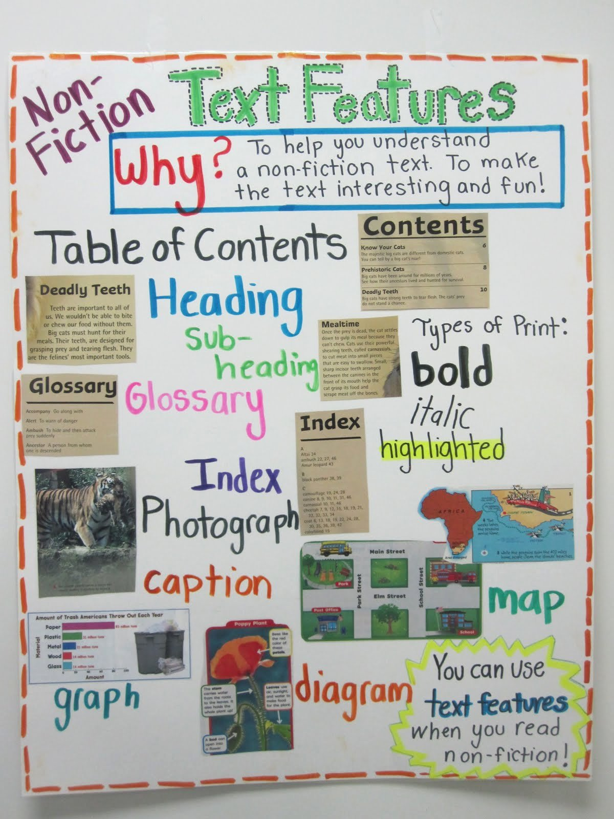 Text Features Worksheet 2nd Grade New Second Grade Style Teaching Text Features