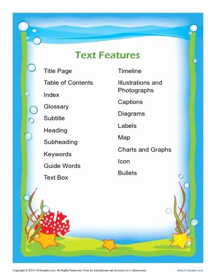 Text Features Worksheet 3rd Grade Beautiful Nonfiction Text Features