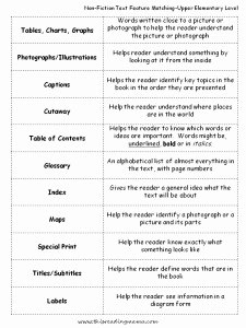 Text Features Worksheet 3rd Grade Elegant 13 Best Of Text Features Worksheet Text Features