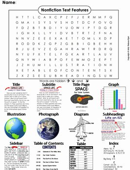 Text Features Worksheet 3rd Grade Inspirational Nonfiction Text Features Worksheet Word Search 3rd 4th