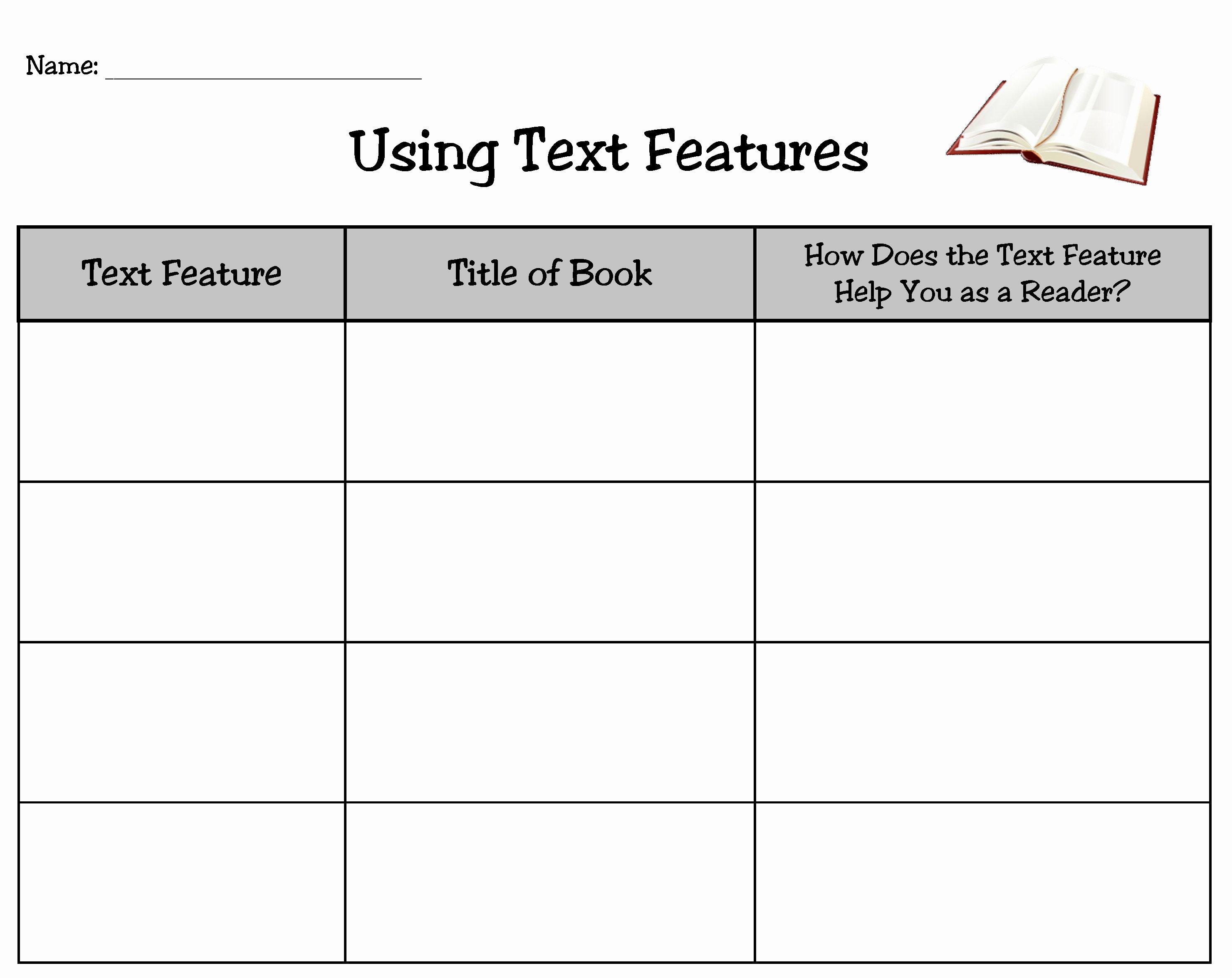 Text Features Worksheet 3rd Grade Unique Nonfiction Text Features Worksheet 3rd Grade the Best