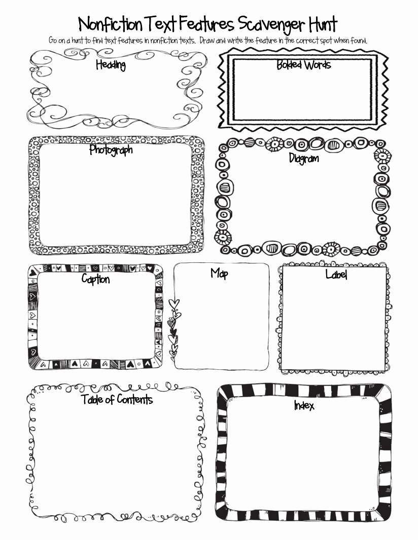 Text Features Worksheet Pdf Awesome Nonfiction Text Features Scavenger Hunt Pdf