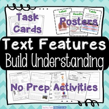 Text Features Worksheet Pdf Elegant Nonfiction Text Features Activities Centers Posters
