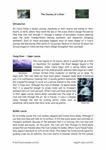 Text Features Worksheet Pdf Luxury Stages Of A River Plan Text and Worksheet Resources Tes