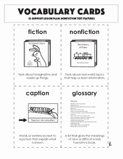 Text Features Worksheet Pdf Unique Nonfiction Text Features Lesson Plan