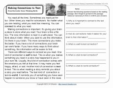 Text Structure Worksheet 4th Grade Awesome Making Connections to Text