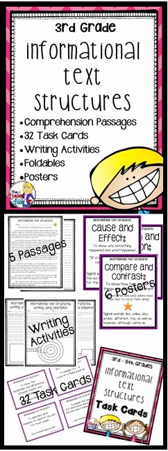 Text Structure Worksheet 4th Grade Elegant 17 Best Images About Informational Text Structures On
