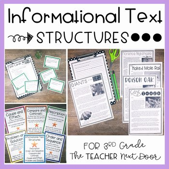 Text Structure Worksheet 4th Grade Unique Informational Text Structures 3rd Grade by the Teacher