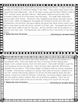 Text Structure Worksheet Pdf Awesome Informational Text Structure assessment or Worksheet by