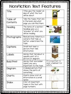 Text Structure Worksheet Pdf Lovely Text Features Scavenger Hunt