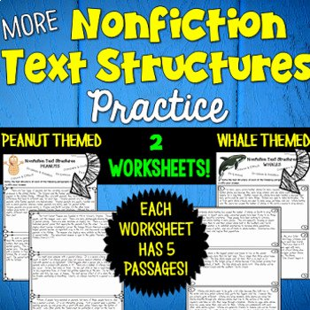 Text Structure Worksheet Pdf New Informational Text Structures Two Worksheets by Deb