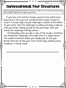 Text Structure Worksheet Pdf Unique Text Structures Featuring Graphic organizers by Deb Hanson