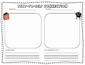 Text to Self Connections Worksheet Awesome Primary Text to Self Connections Graphic organizer by