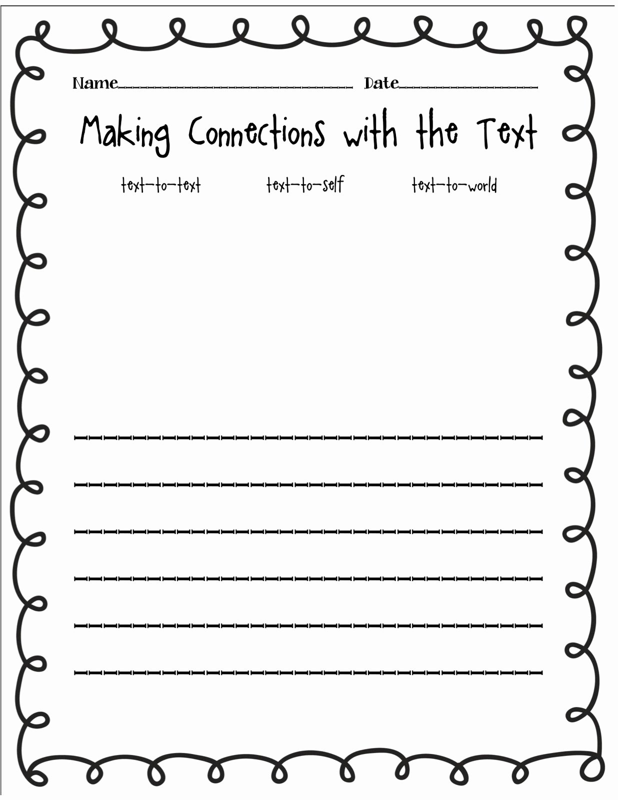 Text to Self Connections Worksheet Awesome the Wizard Of Boz Text Connection Freebie