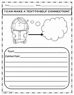Text to Self Connections Worksheet Beautiful Making Connections Fun Sheet