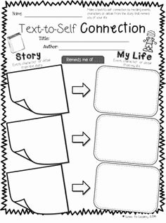 Text to Self Connections Worksheet Beautiful Printable to Teach Your Students How to Make Text to Self