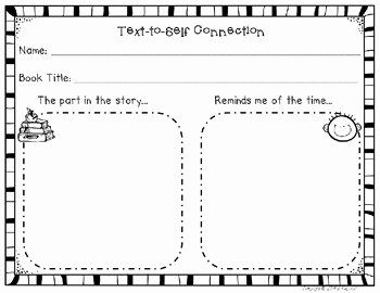 Text to Self Connections Worksheet Best Of Camp Kindergarten Book Talk Tuesday A Freebie and A