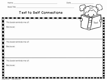 Text to Self Connections Worksheet Best Of Schema Making Connections Reading Response by Winged