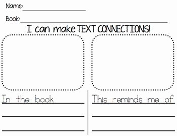 Text to Self Connections Worksheet Elegant Text to Self Connections Sheet by Ms Knopf