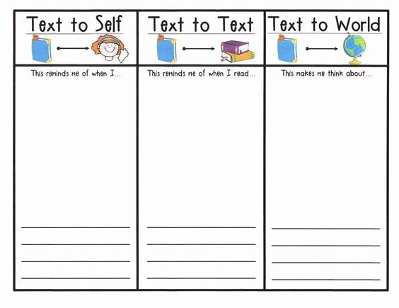 Text to Self Connections Worksheet Inspirational Student Response Sheet to Illustrate and Write About
