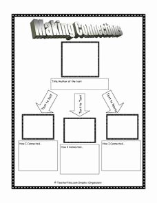 Text to Self Connections Worksheet Lovely Making Connections 3rd 10th Grade Worksheet