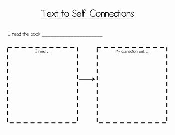 Text to Self Connections Worksheet Luxury Text to Self Connections Worksheet by Excelling In Second