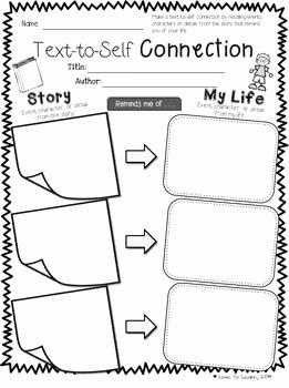 Text to Self Connections Worksheet New Reading Prehension Printables for Any Chapter Book