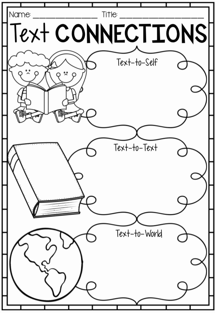 Text to Self Connections Worksheet Unique Reading Text Connection Worksheets Posters & Bookmarks