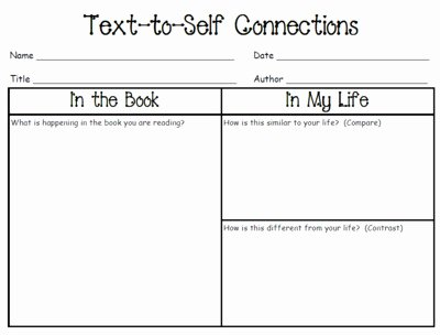 Text to Text Connections Worksheet Awesome Making Connections Worksheet