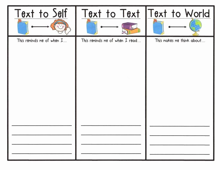 Text to Text Connections Worksheet Awesome Pin by atbot the Book Bug On Cafe and Daily 5 Ideas and