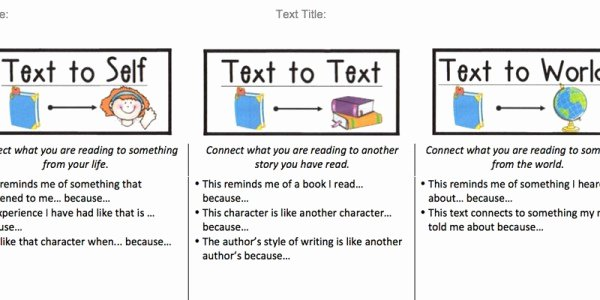 Text to Text Connections Worksheet Beautiful 13 Best S Of Text to World Poster Making Text
