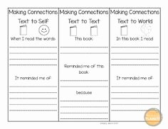Text to Text Connections Worksheet Best Of 1000 Ideas About Text Connections On Pinterest