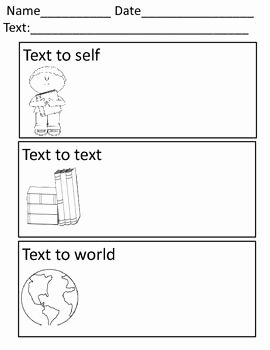Text to Text Connections Worksheet Best Of 17 Best Images About Teaching Making Connections On